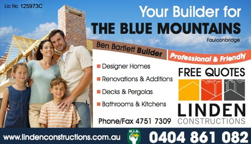 Blue Mountains Builders, Penrith, Springwood, Katoomba, Faulconbridge